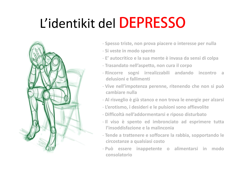 L'identikit del depresso
